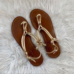Gold Ivanka Trump sandals